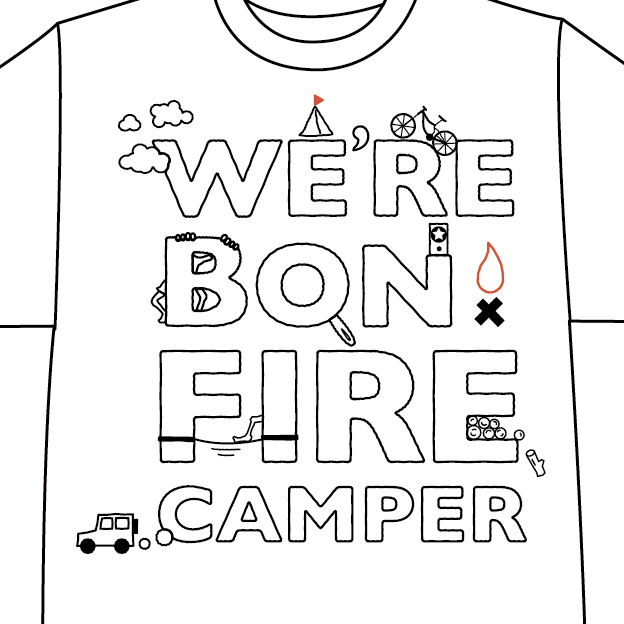 CAMP HOUSE/We're Bonfire Camper Tシャツ
