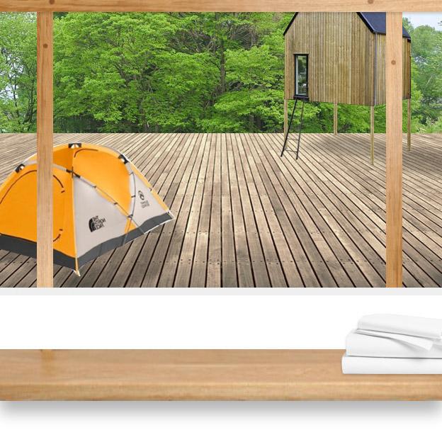 CAMP HOUSE/T町キャンプハウス洗面所からの眺め