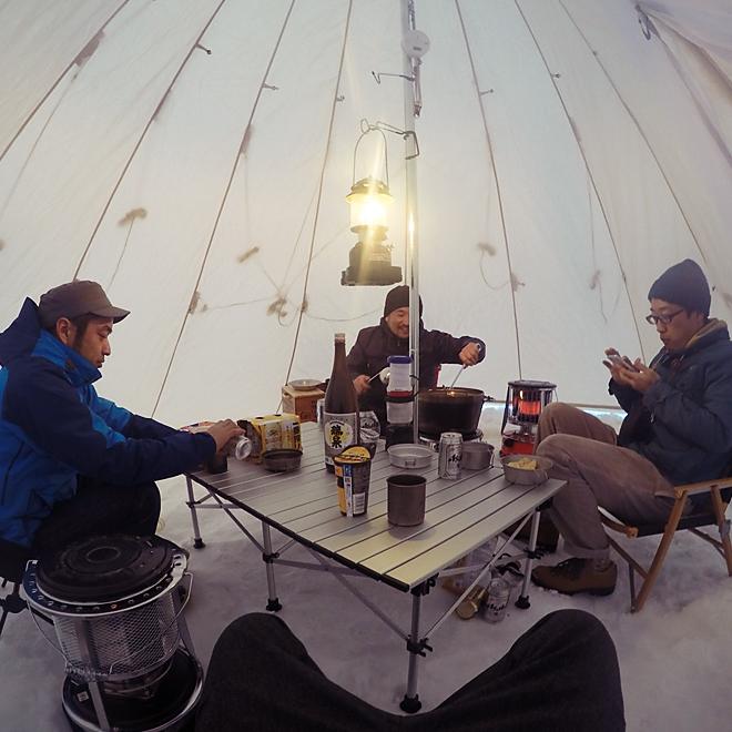 雪中キャンプしてきた