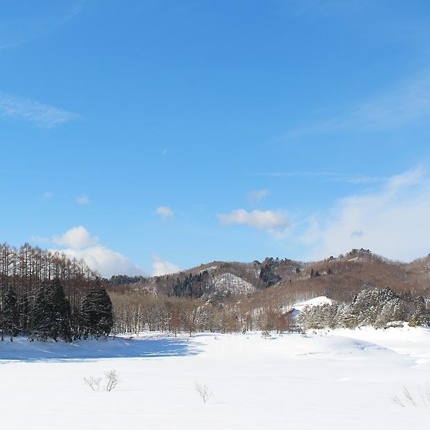 CAMP HOUSE/恩原高原での雪中キャンプ-美しい景色