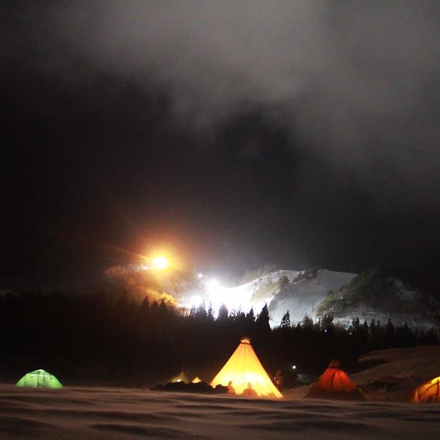 CAMP HOUSE/恩原高原での雪中キャンプ-全容1