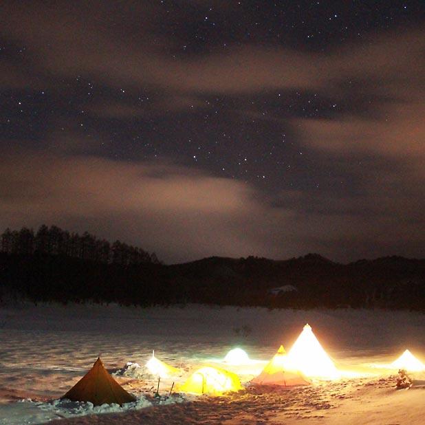 CAMP HOUSE/恩原高原での雪中キャンプ-全容2