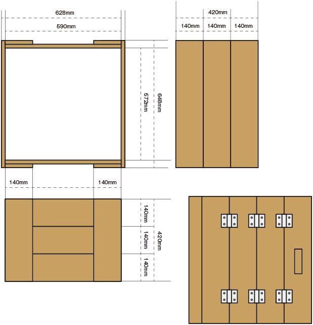CAMP HOUSE堆肥箱設計図