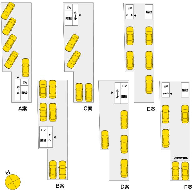 T町キャンプハウス計画-駐車場案
