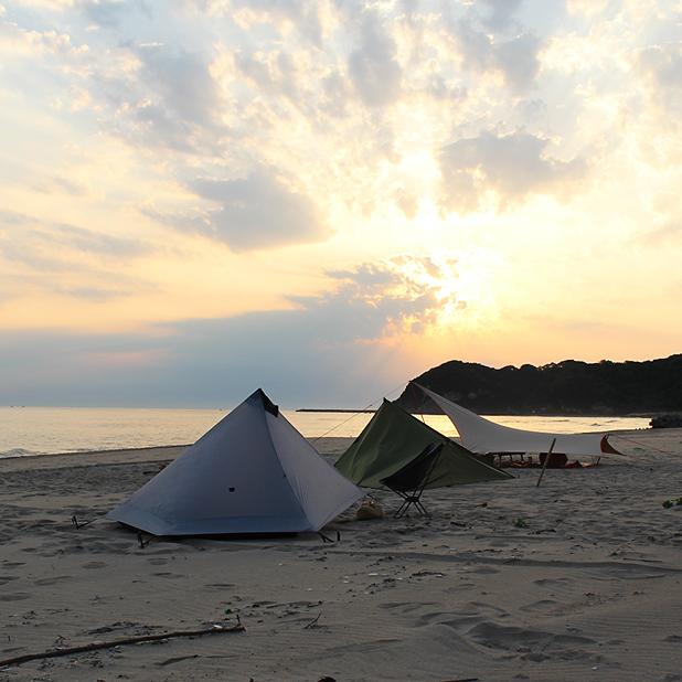 CAMP HOUSE/ビーチで迎える朝