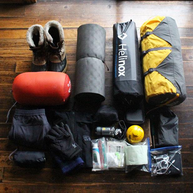 CAMP HOUSE/冬キャンプの装備