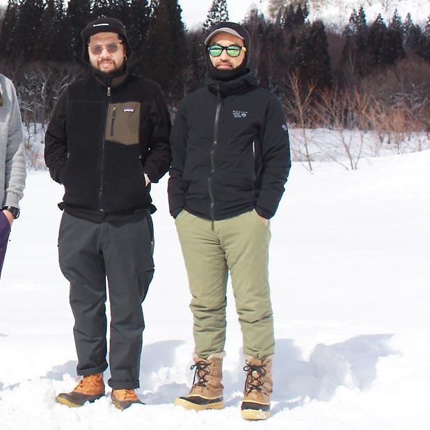 雪中キャンプでのmont-bellバラクラバのかぶり方