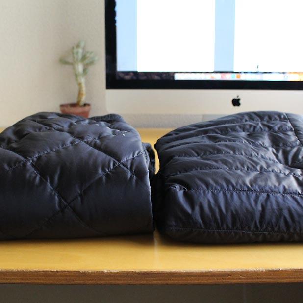 mont-bellのダウン製品-スペリオダウンパンツとスペリオダウンラウンドネックジャケットを比較