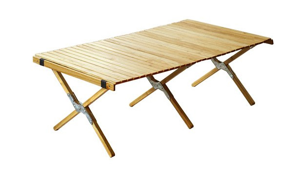 OUTPUT LIFE WOOD ROLL TOP TABLE