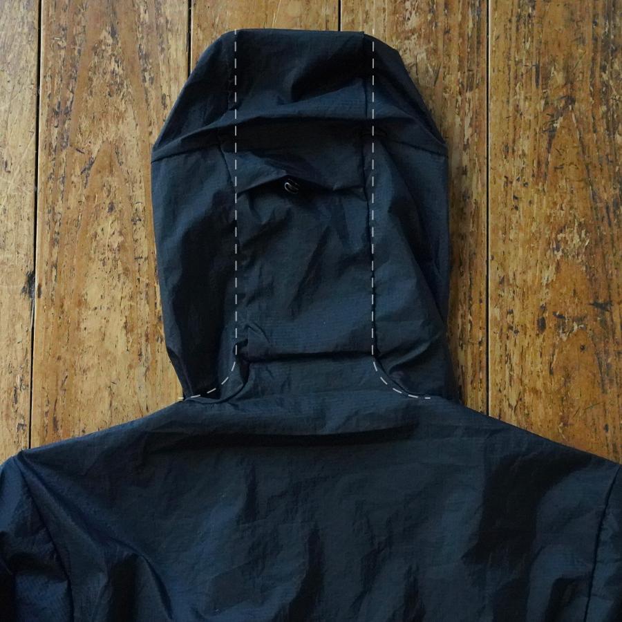 パタゴニア・フーディニ・ジャケット/Patagonia Houdini Jacket フード部のパターン
