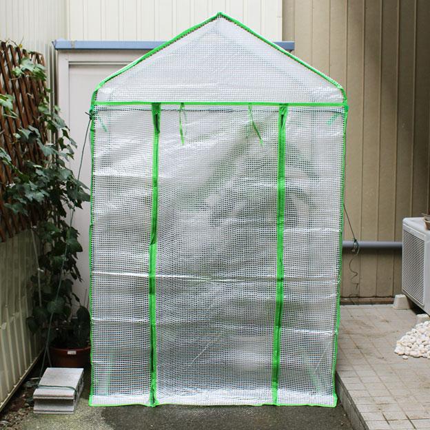 CAMP HOUSE/小型ビニール温室「武田コーポレーション 【菜園・花台・温室・ガーデニング・ラック・プランター】 ビニール温室 ワイド (OST-BIG2)」を買ってみた