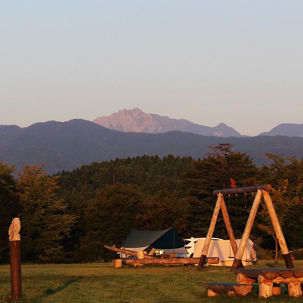 やまもり温泉キャンプ場-大山眺望